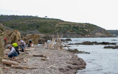Ramassage de déchets au Cap Lardier